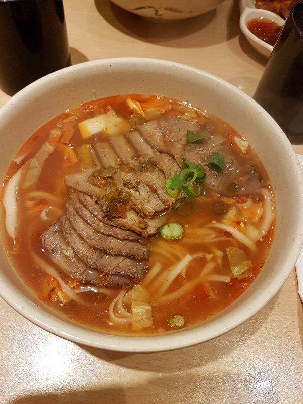 Taiwanesische Nudelsuppe im Lon Men's Noodle House